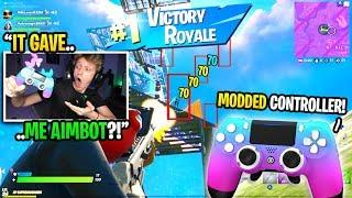 I bought a MODDED CONTROLLER for Fortnite and it gave me AIMBOT... (best controller)