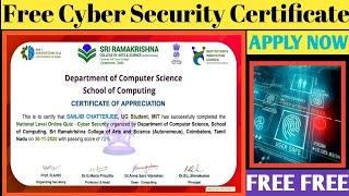 CYBER SECURITY | Cyber Security Certificate | Frre Quiz Certificate | Free Certificate 2020 |