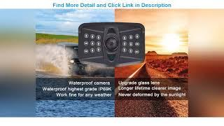 Top 10 AMTIFO A9 FHD 1080P 7 Inch RV Backup System with 2 Rear View Camera, Support Split/Quard Scr