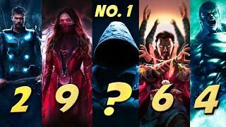 Top 10 Best Avengers Of All Time | Endgame | Marvel Studios 2021 | Updated List | Explained In Hindi