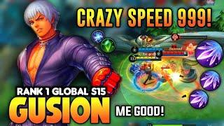 Top 1 Global S15 Gusion, Ultra Fast Hand Combo | Gusion Gameplay by me good | MLBB✓