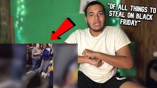 PREGNANT WOMAN STEALS ON BLACK FRIDAY!! TOP 10 WORST BLACK FRIDAY MOMENTS REACTION