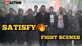 Boys fight scenes || Top 10 school fight scenes with Lyrics IMRANKHAN SATISFY Song ||