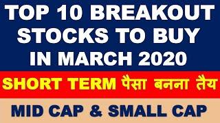 Top 10 breakout stocks to buy now | multibagger shares 2020 india | swing trading with smallcase app