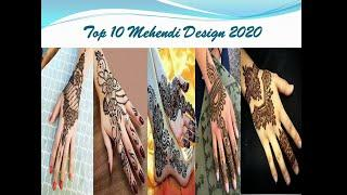 Top 10 Hand Hehedi Desing Top 10 |  Easy Arabic Henna Design | Beautiful Front Hand Mehndi | Simple