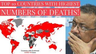 Top 10 Countries with highest number of Coronavirus Cases | Hardest hit countries around the World