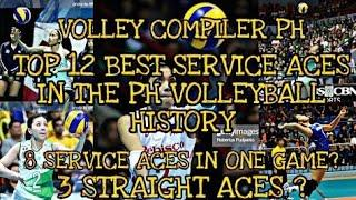 TOP 12 BEST SERVICE ACES | FLOAT SERVICE AND JUMP SERVICE | 8 ACES IN ONE GAME | 3 STRAIGHT ACES.