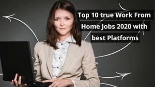 Top 10 Highest Paying Work From Home Jobs 2020 with best Platforms