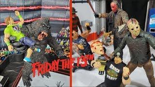 FRIDAY THE 13TH ACTION FIGURE SET UP | HORROR SERIES