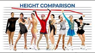 Figure skaters: Height comparison. How tall are Rika Kihira, Yuna Kim, Alina Zagitova, Midori Ito...