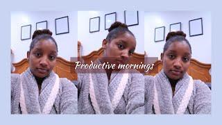 PRODUCTIVE MORNINGS QUARANTINE MORNING ROUTINE  #Morningroutine #quarantinevlog AllThingsJadene