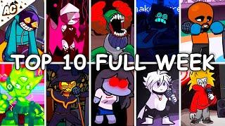 Top 10 Mods Full Week! - Friday Night Funkin' - The Hardest Mods Compilation