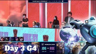 JDG vs RGE | Day 3 Group B S10 LoL Worlds 2020 | JD Gaming vs Rogue - Groups full game