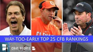 College Football Top 25: Way-Too-Early Rankings For 2020 Ft. Clemson, LSU, Ohio State & Alabama