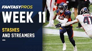Top 10 Players to STASH & STREAM for Week 11 and Beyond (2020 Fantasy Football)
