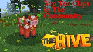 Top Ten Minecraft Survival Games Clips In The Community (Hive Bedrock Edition)