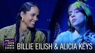 Billie Eilish & Alicia Keys Perform Ocean Eyes