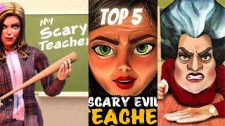 TOP 5 Scare Scary Teacher 3D   Spooky & Scary Level 3 To 5 Gameplay Walkthrough Part 3