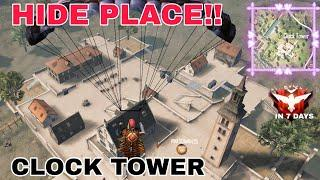 Top 10 Hide Place in Clock Tower   Tips and Tricks   Free Fire Gameplay   The Legend