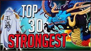 Ranking The TOP 30 STRONGEST Characters In One Piece (2019)