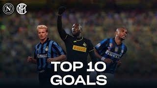 NAPOLI vs INTER | TOP 10 GOALS | Lukaku, Eto'o, Bergkamp... and more!