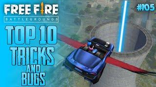 Top 10 New Tricks In Free Fire | New Bug/Glitches In Garena Free Fire #105