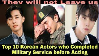 Top 10 Korean actors who completed their military service before Acting   korean drama   kdrama  