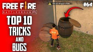 Top 10 New Tricks In Free Fire | New Bug/Glitches In Garena Free Fire #64