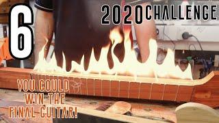 6) This build is on Fire!  - I Build a UNIQUE Crowd Designed Hollow Multi-Scale Guitar in 20 hours!