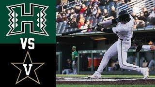 Hawaii vs #2 Vanderbilt Highlights | Game 2 |  2020 College Baseball