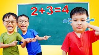 Top 10 Kids Learn Math at School (⑫ - ❽ = ➉ ) ✅ Test Math and Numbers for Kids Exam HCN Go School
