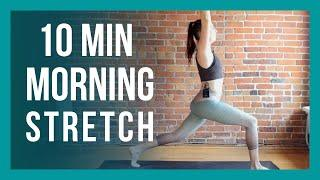 10 min Morning Yoga - Full Body Beginner Flow NO PROPS NEEDED