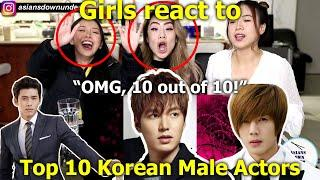 GIRLS REACT to Top 10 Most Handsome Korean Male Actors 2019 | Asians Down Under - Reaction Video