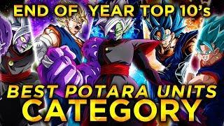 2019 END OF THE YEAR TOP 10'S! TOP 10 POTARA UNITS IN DOKKAN! (DBZ: Dokkan Battle)