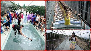 Top 10 Dangerous & Scary Glass Bridges Effect In China