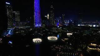 ||Burj Khalifa||Fireworks light up the sky||Welcome 2020||Happy new year in dubai burJ