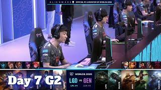 LGD vs GEN | Day 7 Group C S10 LoL Worlds 2020 | LGD Gaming vs Gen.G - Groups full game