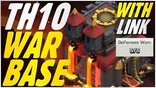 BEST TH10 WAR BASE with LINK | TH10 Base LINK 2020 | TH10 War Base LINK 2020 | TH10 Clash of Clans
