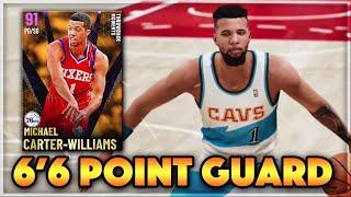 *6'6 TALL POINT GUARD* MICHAEL CARTER WILLIAMS!! ONE OF THE BEST AMETHYST CARDS IN NBA 2K21 MyTEAM!!