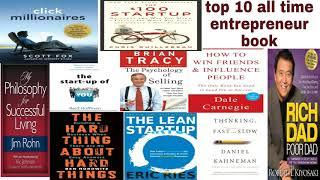 TOP 10 ALL TIME ENTREPRENEUR BOOK(Rich Dad Poor Dad the #1)