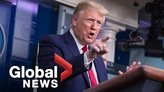 "Coronavirus outbreak: Trump offers ""best wishes"" to Boris Johnson, denies issues with testing 