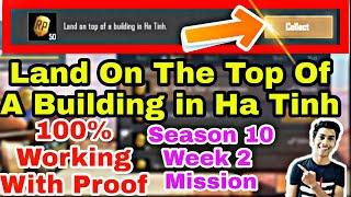 Land on the top of a building in Ha Tinh Mission PUBG Mobile | Part 2 | Season 10 Mission |