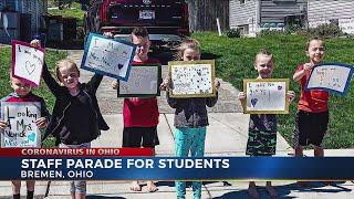 Teachers hold parade to say hello to Bremen Elementary School students