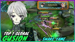 Savage. 1 vs 5 No Problem. Top 1 Global Gusion. Instant Damage Gameplay by Snake Yame