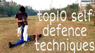 Top 10 self defense techniques//techniques for road fight//dangrous techniques//must watch