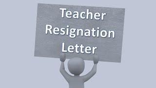 Teacher Resignation letter to principal   Teacher resignation letter sample   Resignation Letter