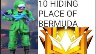 TOP 10 HIDING PLACE IN BERMUDA MAP || GARENA FREE FIRE
