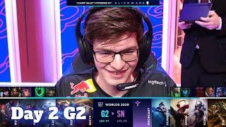 G2 vs SN | Day 2 Group A S10 LoL Worlds 2020 | G2 eSports vs Suning - Groups full game