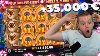 ClassyBeef Record Win 35.000€ on The Dog House slot - TOP 5 Biggest wins of the week