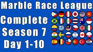 Marble Race League 2020 Season 7 Complete Race Day 1-10 in Algodoo / Marble Race King